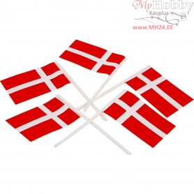 Cake Flags, size 30x50 mm, Denmark, 100pcs