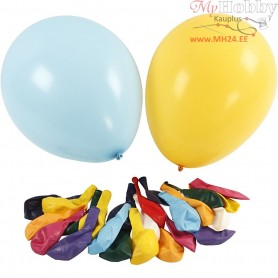 Balloons, asstd colours, D: 41 cm, giant, 50pcs
