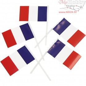 Cake Flags, size 30x48 mm, France, 100pcs