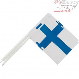 Waving Flags, size 20x25 cm, Finland, 10pcs