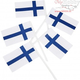 Cake Flags, size 30x50 mm, Finland, 100pcs