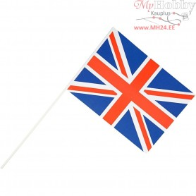 Waving Flags, size 20x25 cm, United Kingdom (Union Jack), 10pcs