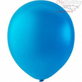 Balloons, light blue, D: 23 cm, round, 10pcs