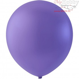 Balloons, purple, D: 23 cm, round, 10pcs