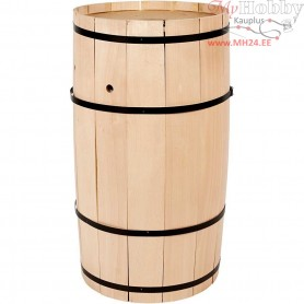 Carnival Barrel, H: 54 cm, W: 30 cm, beech, big, 1pc