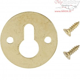 Bracket, D: 23 mm, gold, 10pcs