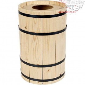 Carnival Barrel, H: 38 cm, pine, small, 1pc