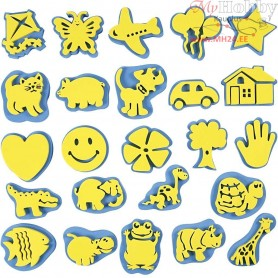 Everyday Stamp Set, H: 6-8 cm, W: 6-8 cm, 24mixed