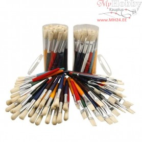 Kids Paint Brushes, W: 15 mm, 60mixed