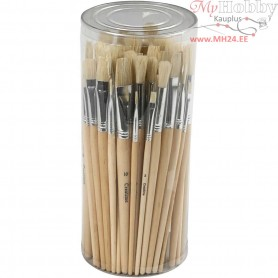 Hog Bristle Brush Set, size 1-10 , 80mixed
