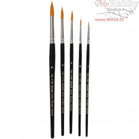 Gold Line Brush, size 1-18 , W: 2-7 mm, round, 5mixed