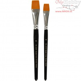 Gold Line Brushes, size 16+20 , W: 17+24 mm, flat, 2mixed