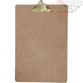 Clipboard, A4 23x34 cm, thickness 3 mm, brass, MDF, A4, 1pc