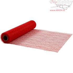 Table Runner, red, W: 30 cm, net, 10m