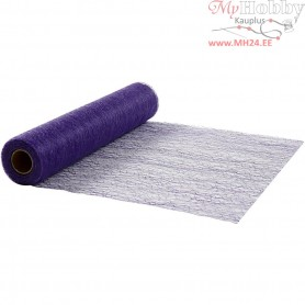 Table Runner, purple, W: 30 cm, net, 10m