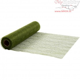 Table Runner, dark green, W: 30 cm, net, 10m