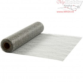 Table Runner, silver, W: 30 cm, net, 10m