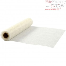 Table Runner, off-white, W: 30 cm, net, 10m