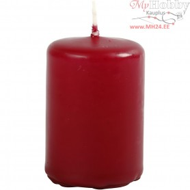 Candles, claret, D: 40 mm, H: 60 mm, 12pcs