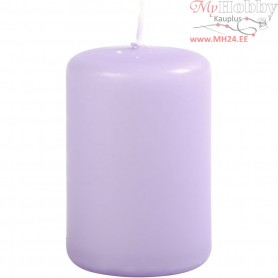 Candles, purple, D: 40 mm, H: 60 mm, 12pcs