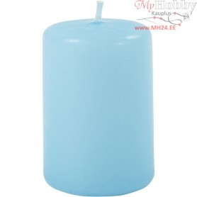 Candles, light turquoise, D: 40 mm, H: 60 mm, 12pcs
