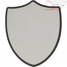 Shield, size 30x35,5 cm, thickness 1,5 cm, grey, 5pcs