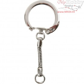 Key Chain, D: 2,3 cm, L: 6 cm, 5pcs