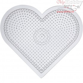 Peg Board, H: 15 cm, transparent, Large heart, 1pc
