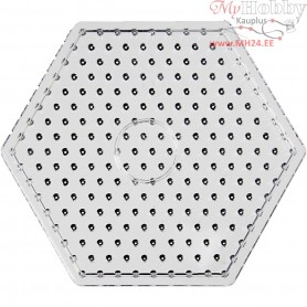 Peg Board, size 17 cm, transparent, JUMBO - hexagon, 1pc