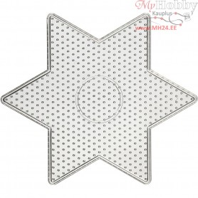 Peg Board, size 15x15 cm, transparent, big star, 1pc