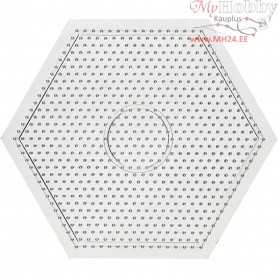 Peg Board, size 15x15 cm, transparent, large hexagon, 1pc