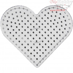 Peg Board, size 17x15,5 cm, transparent, JUMBO - heart, 1pc