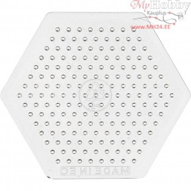 Peg Board, H: 7,5 cm, transparent, Small Hexagon, 1pc