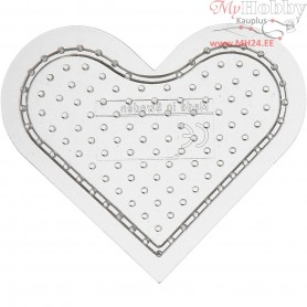 Peg Board, H: 8 cm, transparent, Small heart, 1pc