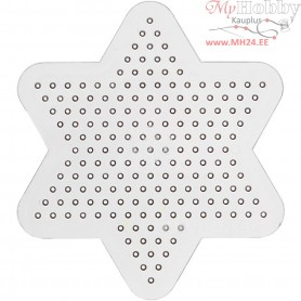 Peg Board, D: 10 cm, transparent, Small star, 1pc