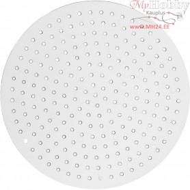 Peg Board, D: 8,5 cm, transparent, Small round, 1pc