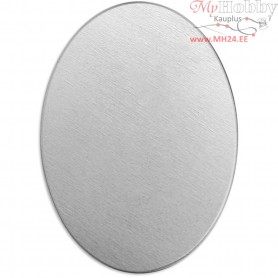 Metal Tag, size 25x18 mm, thickness 1,3 mm, aluminum, Oval, 15pcs