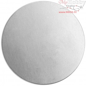 Metal Tag, D: 20 mm, thickness 1,3 mm, aluminum, Round, 15pcs