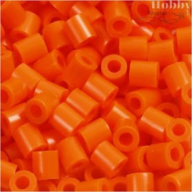 PhotoPearls, size 5x5 mm, hole size 2,5 mm, clear orange (13), 6000pcs