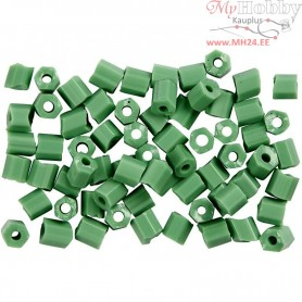 Rocaille Seed Beads, size 6/0 , D: 4 mm, mint green, 2-cut, 500g, hole size 0,9-1,2 mm