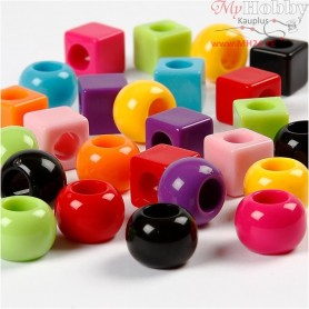 Multi Mix, size 11 mm, hole size 7 mm, asstd colours, 1000g, 1700ml, approx. 750 pc