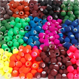 Link Beads, size 8x10 mm, hole size 5 mm, asstd colours, 20x21g