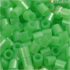 Fuse Beads, size 5x5 mm, hole size 2,5 mm, green mother-of-pearl (22), medium, 6000pcs