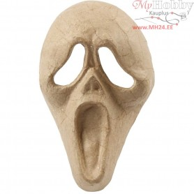 Full Face Mask, scream, H: 25 cm, W: 15 cm, 1pc