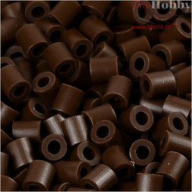 PhotoPearls, size 5x5 mm, hole size 2,5 mm, dark brown (2), 6000pcs