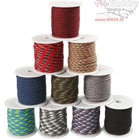 Polyester Cord, W: 5 mm, 10x10m