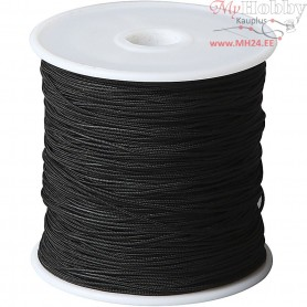 Polyester Cord, thickness 1 mm, black, 50m