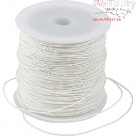 Polyester Cord, thickness 1 mm, white, 50m