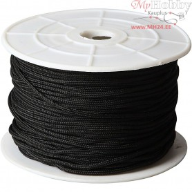 Polyester Cord, thickness 2 mm, black, 50m