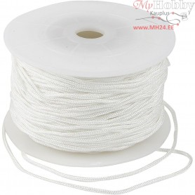 Polyester Cord, thickness 2 mm, white, 50m